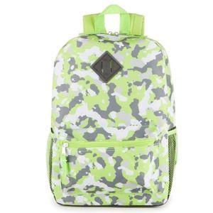 NWT Kids Green Camo Backpack
